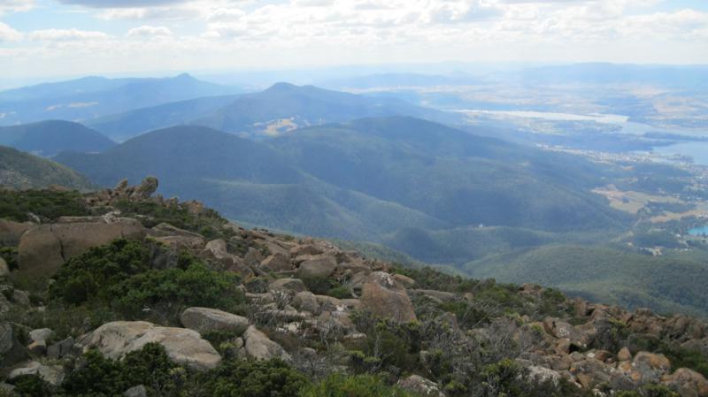 Vistas desde El Monte Wellington .
