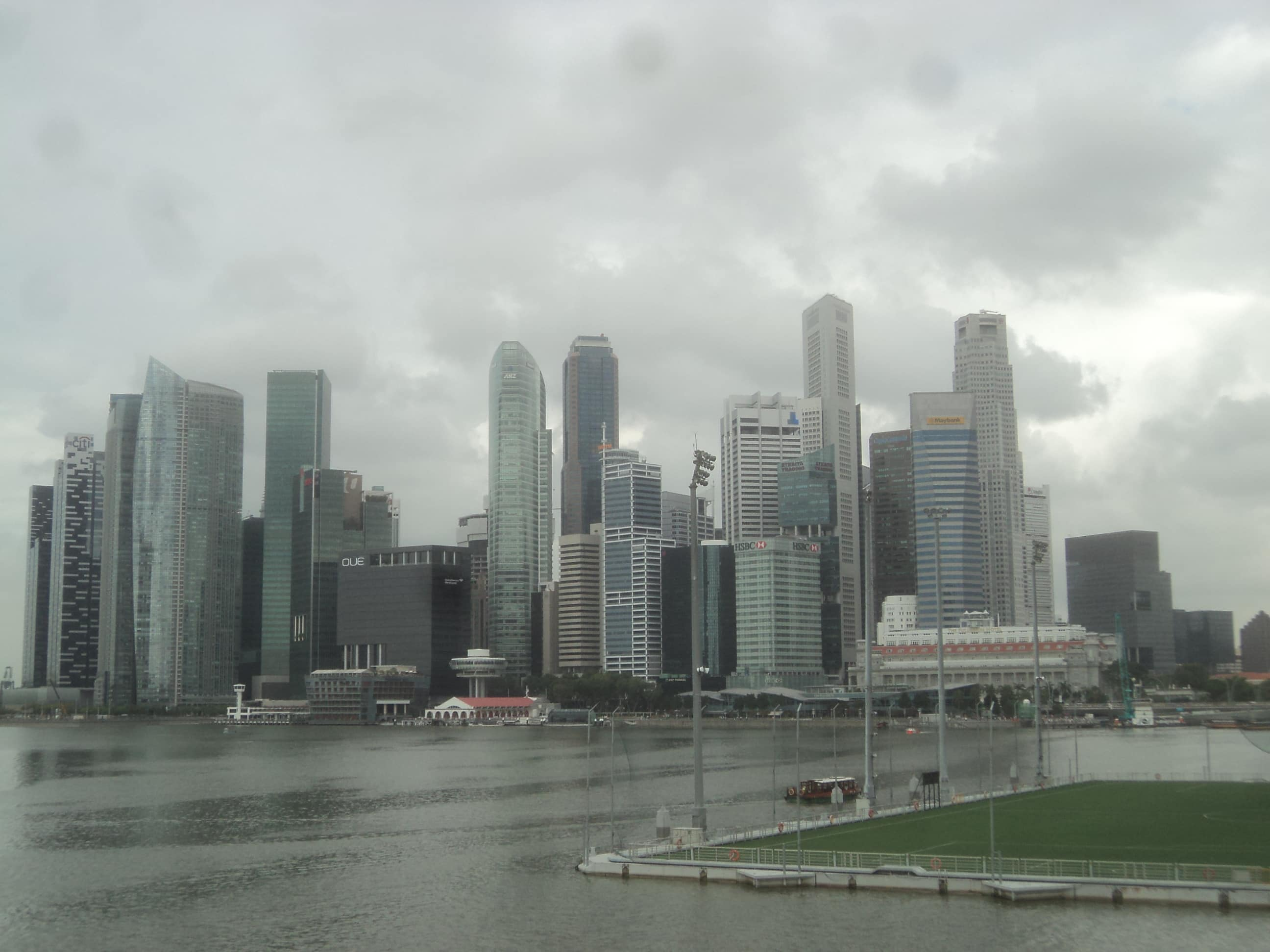 Paseando , en Singapur .