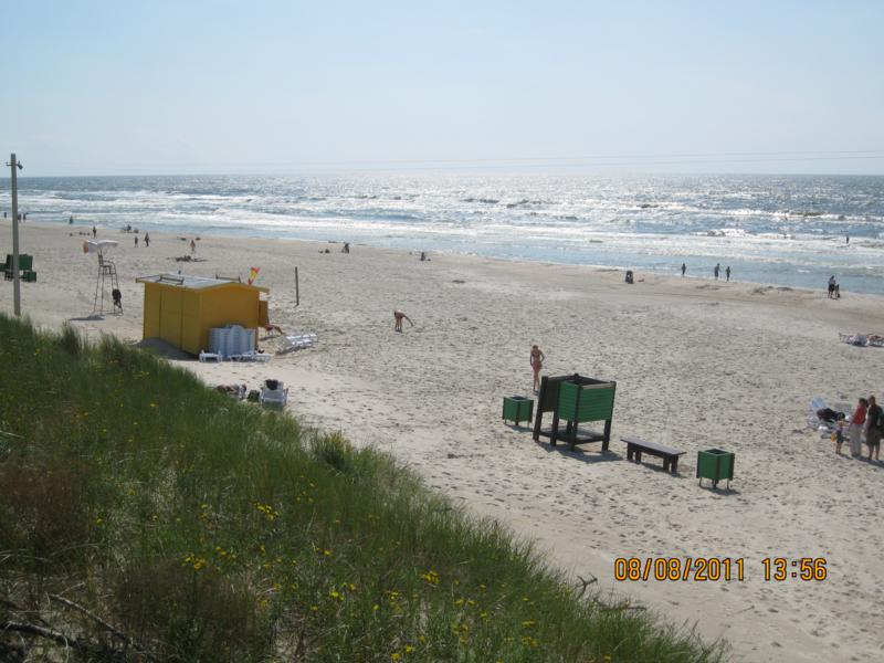 Playa de Klaipeda , en Lituania .