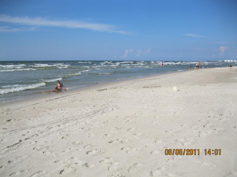 En la playa , en Klaipeda .