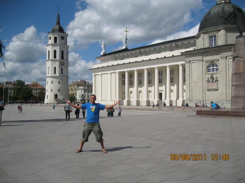 Por el Centro Historico , en Vilnius .