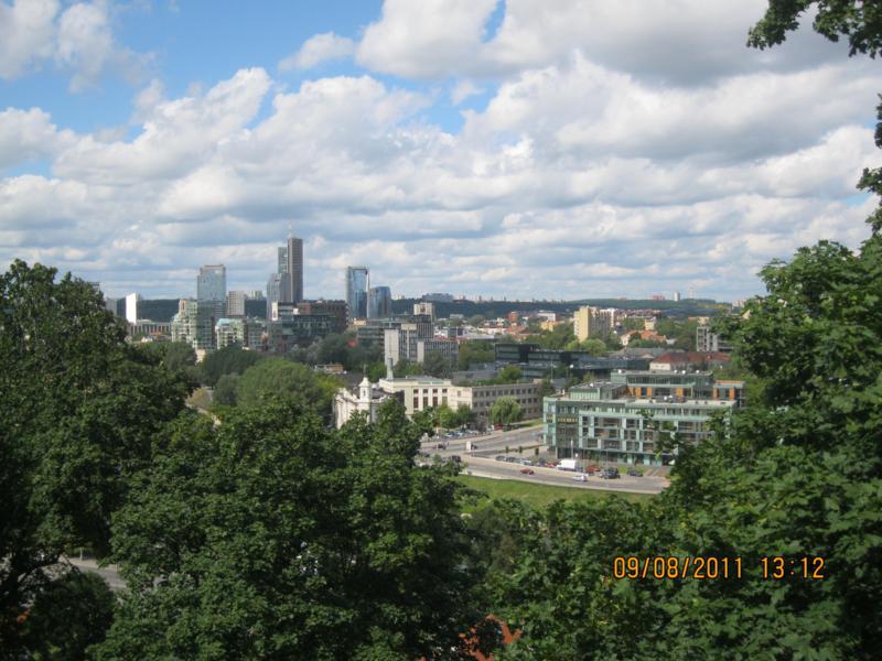Vistas de la ciudad , en Vilnius .