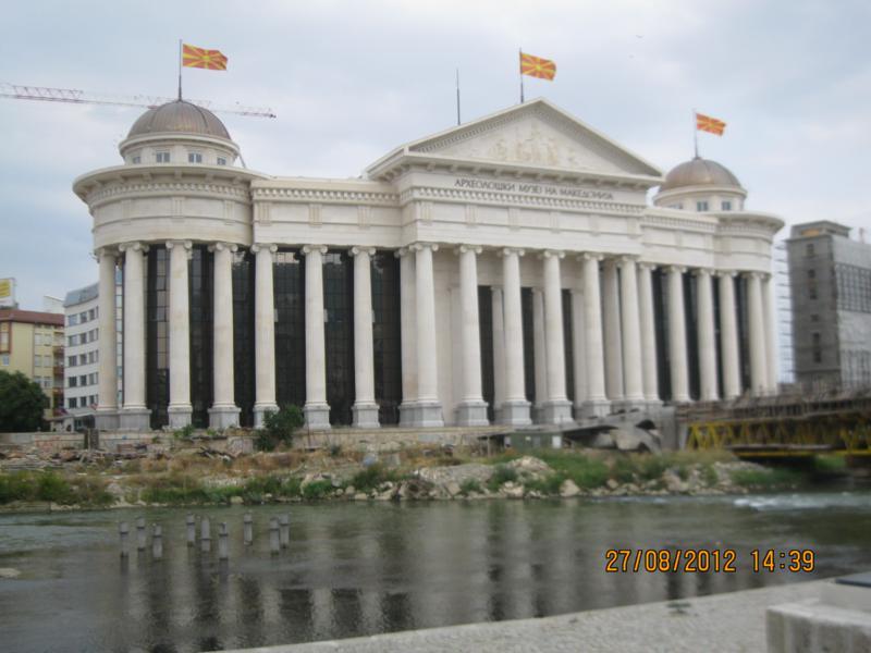Palacio de Gobierno , en Skopje .