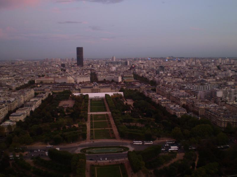 Vistas ,  desde la Torre Eiffel .