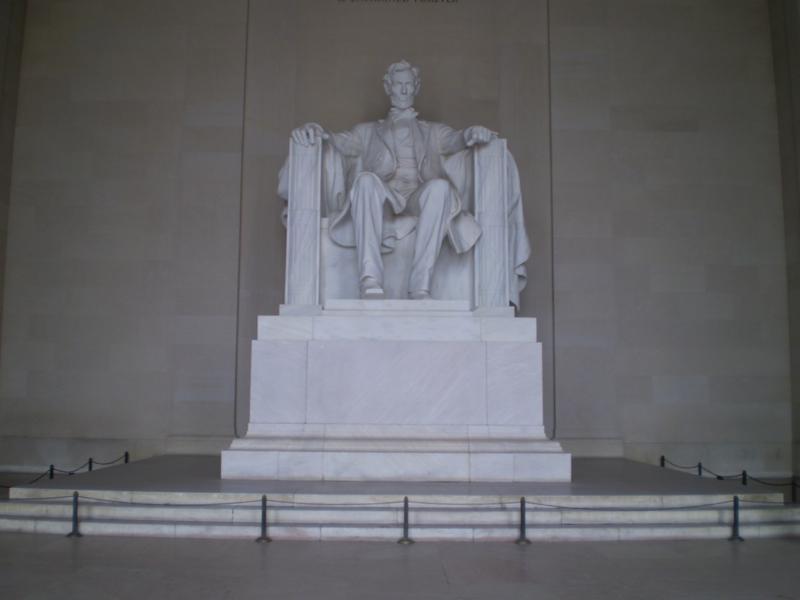 Monumento a Abraham Lincoln .
