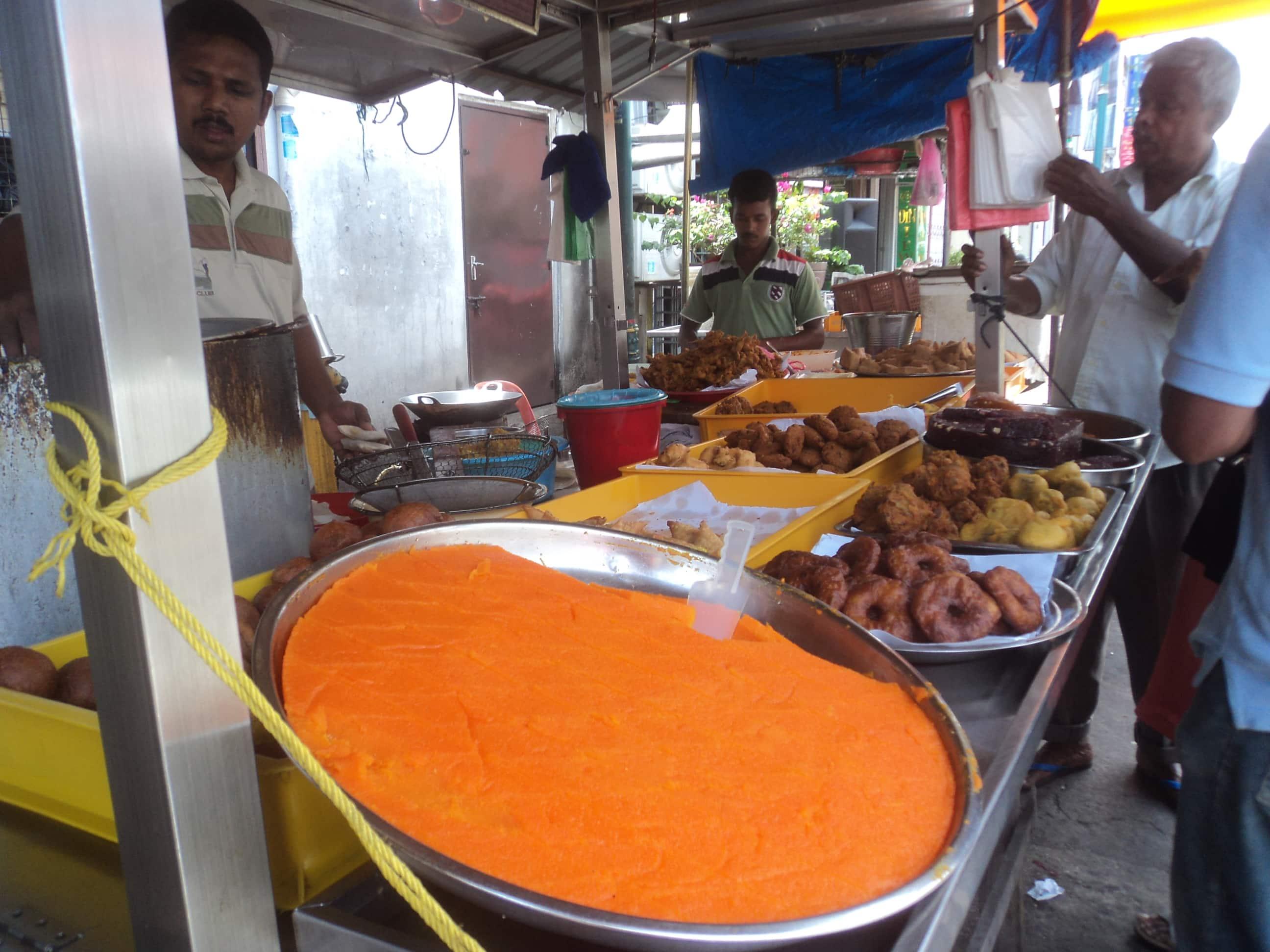 Comida callejera , en Penang .