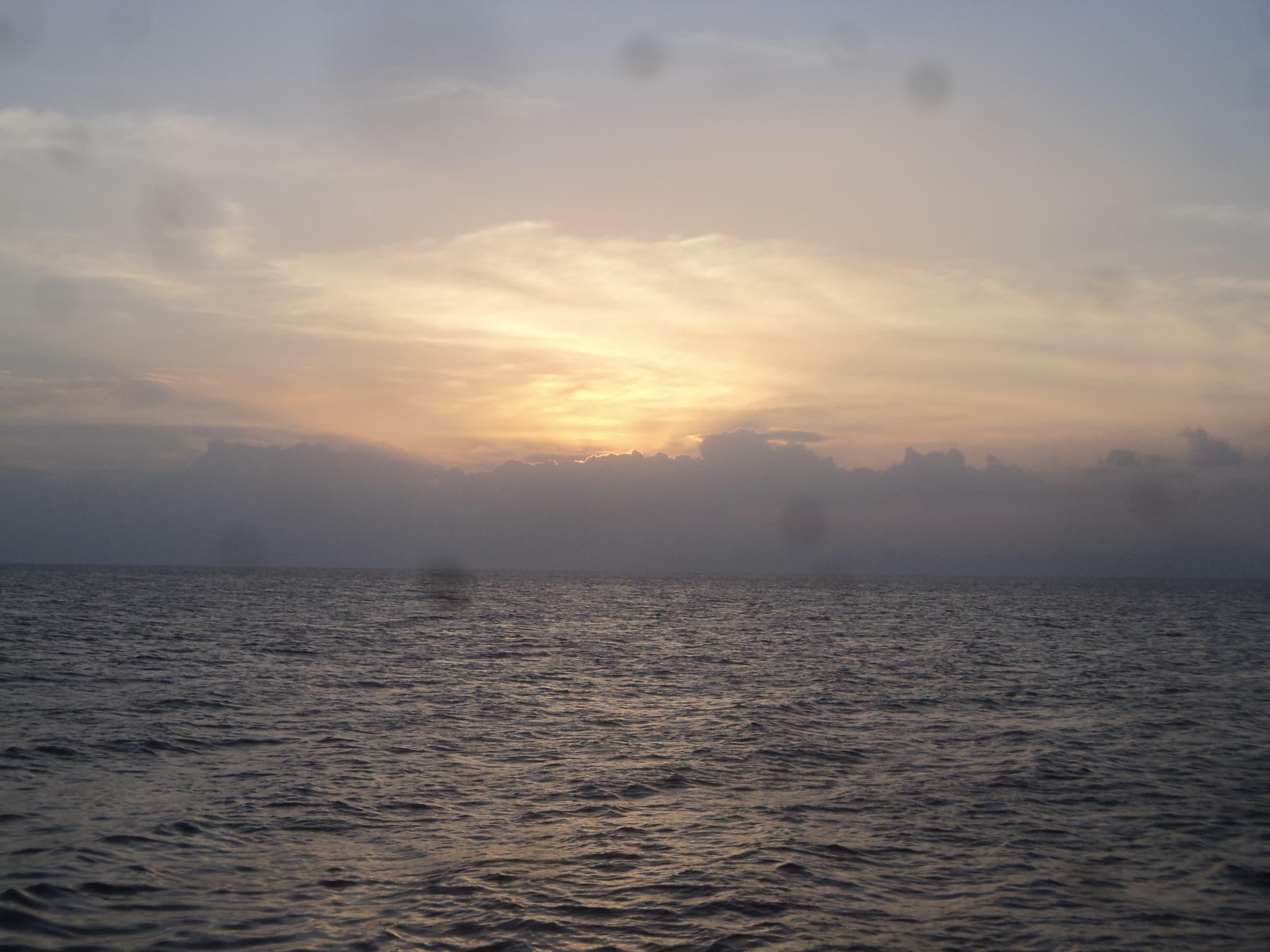 Puesta de sol , en Cebu .