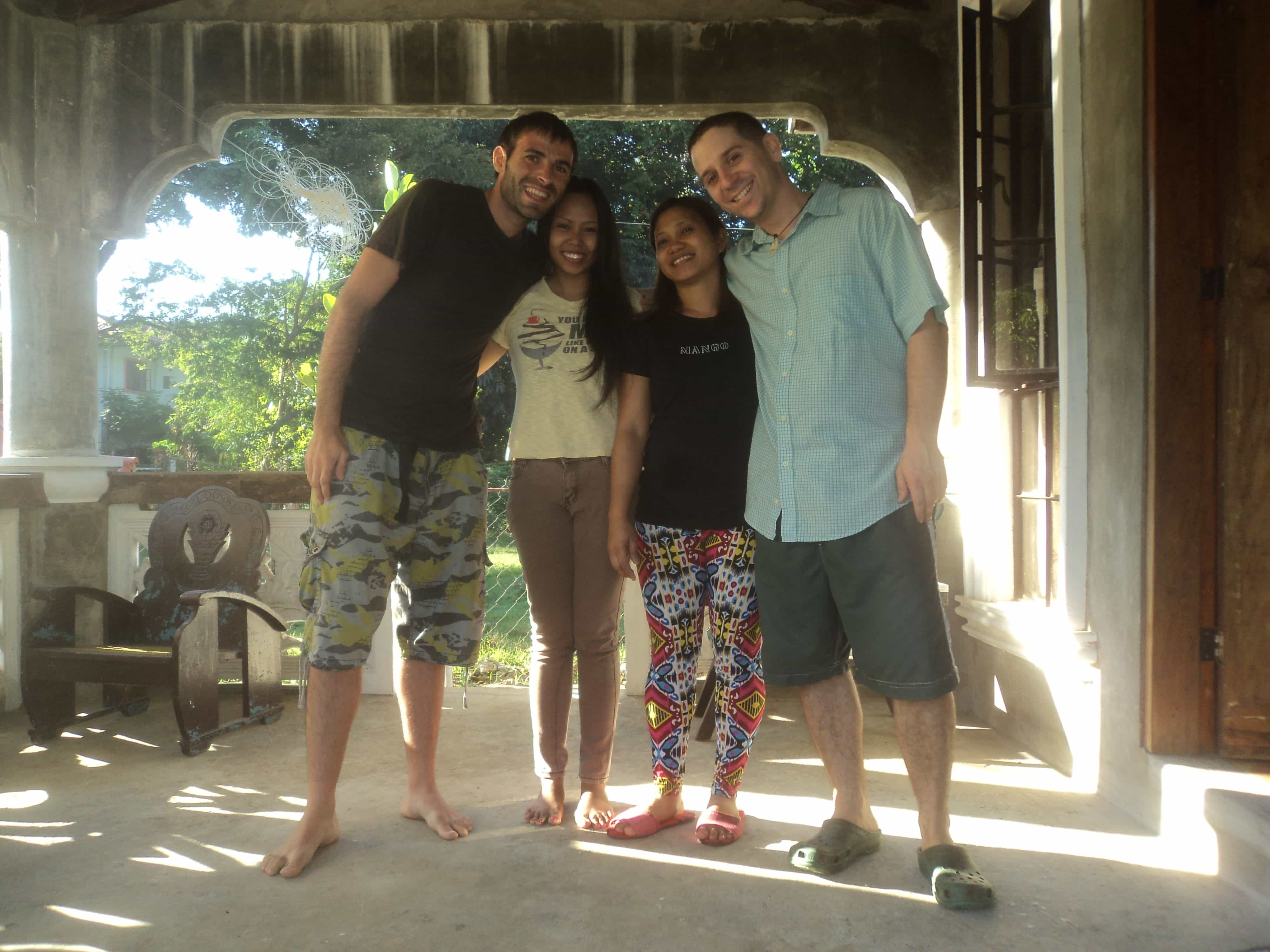 Con Rachel , David y Taji .