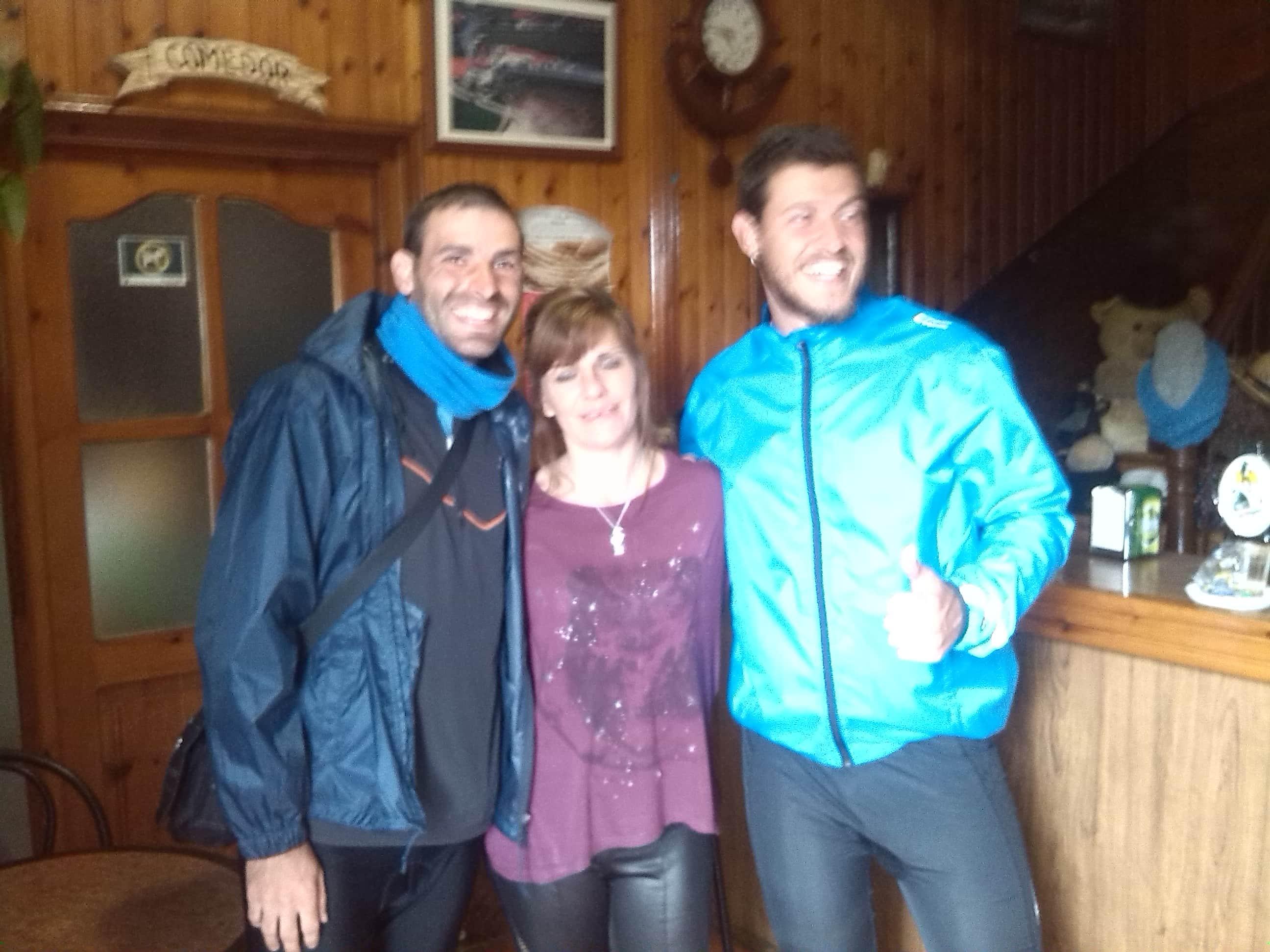 Con Eva y Gonzalo .