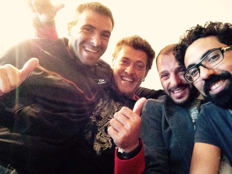 Con Gonzalo y Askender , Luxemburgo .