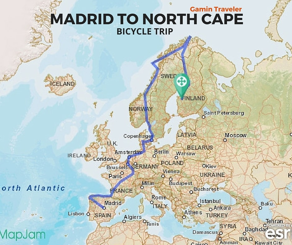Travel without money by bicycle - A Europe route map