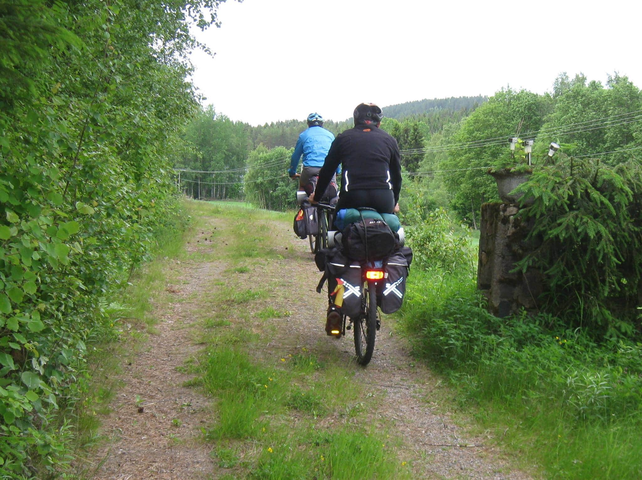 Cycling Norway- travel without money.