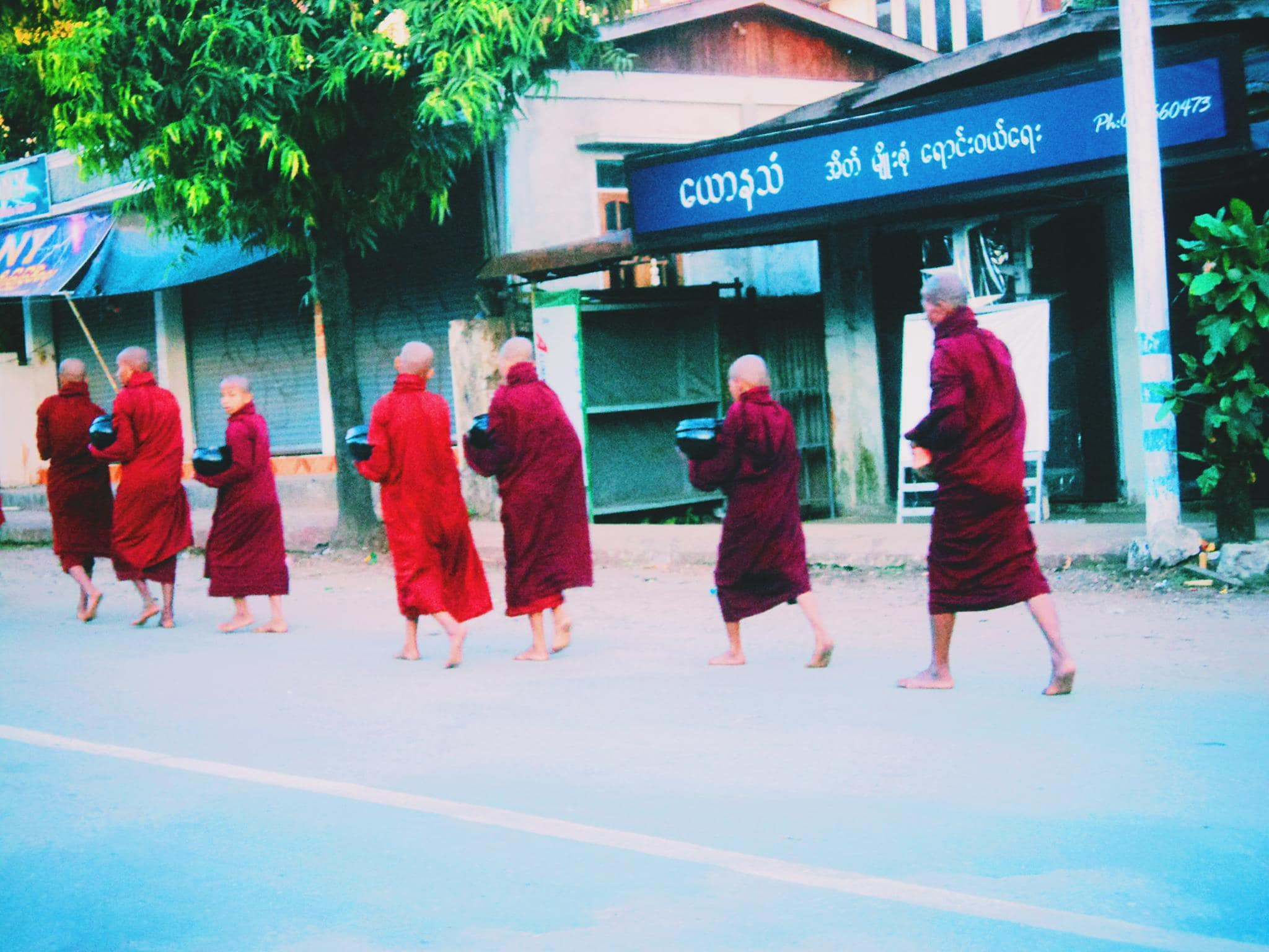 Alms giving to monks