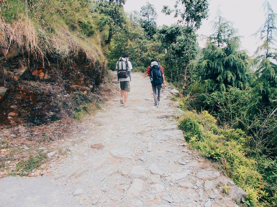 Trek to Triund starting