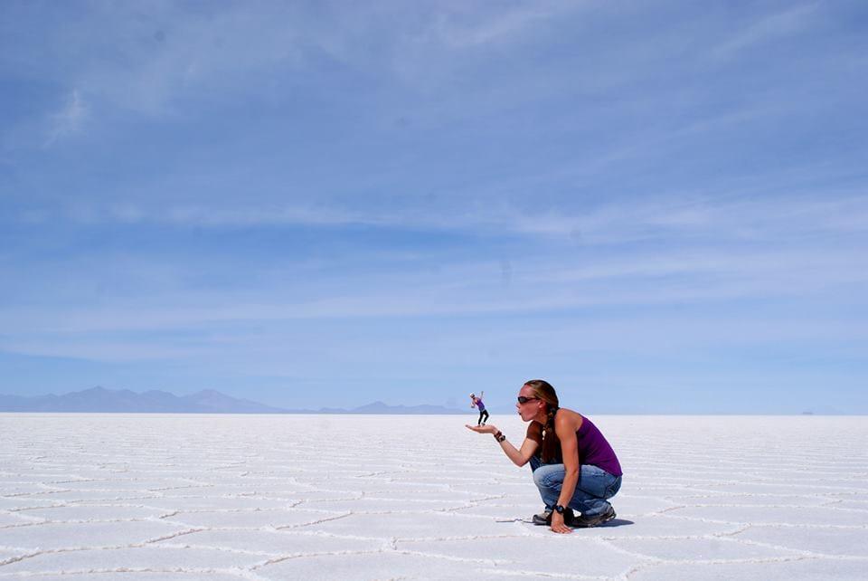 Jill from Adventure J at Salar Uyuni.