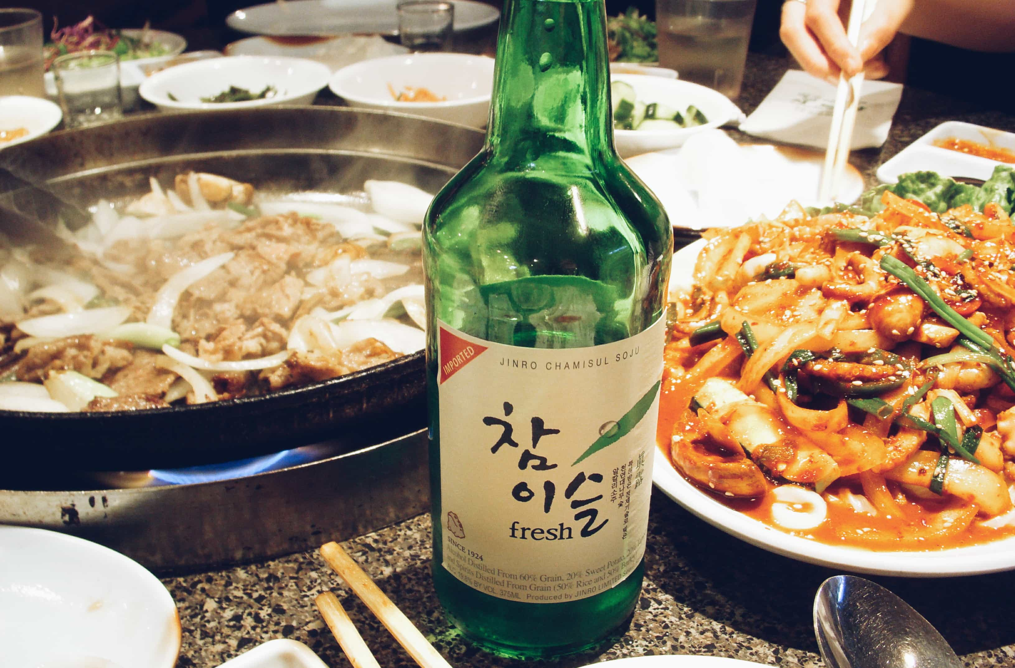 Eating and drinking in South Korea.