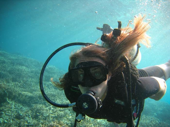 Kristin in Borneo