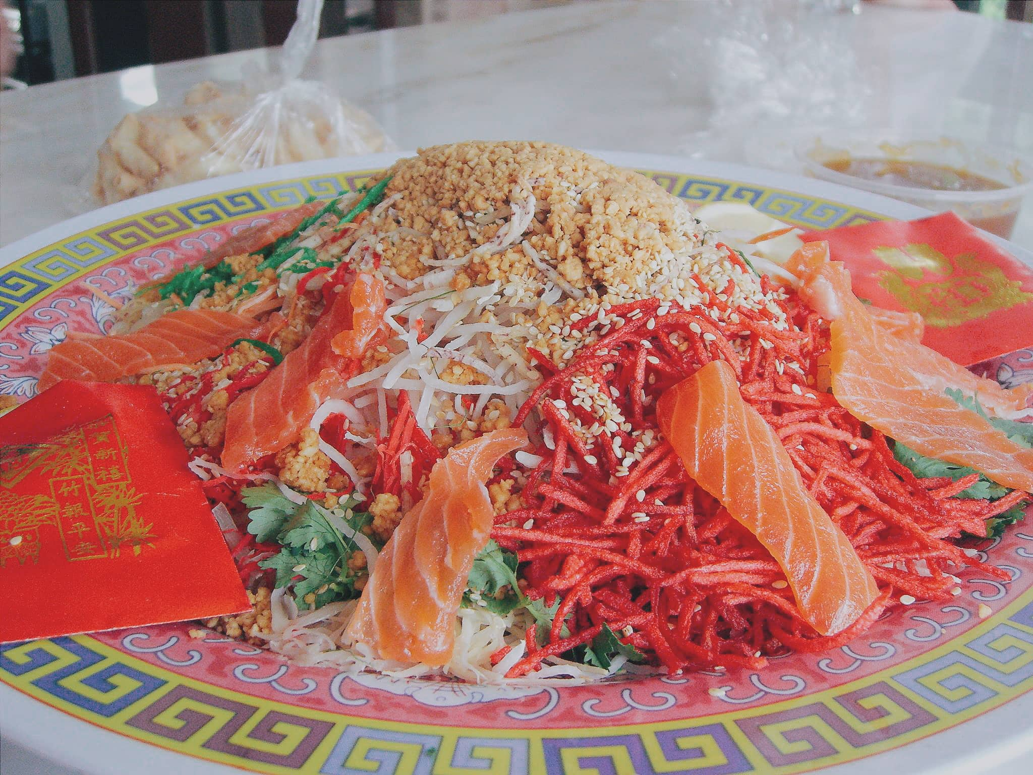 Fresh Salmon is part of the Chinese New Year Prosperity Food