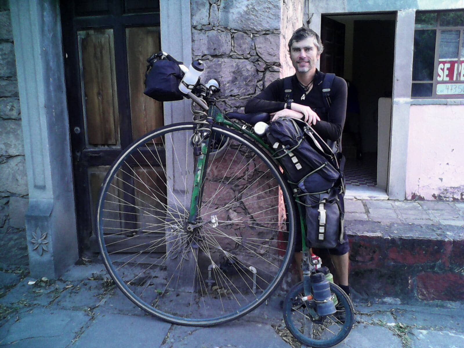 John from penny-farthing