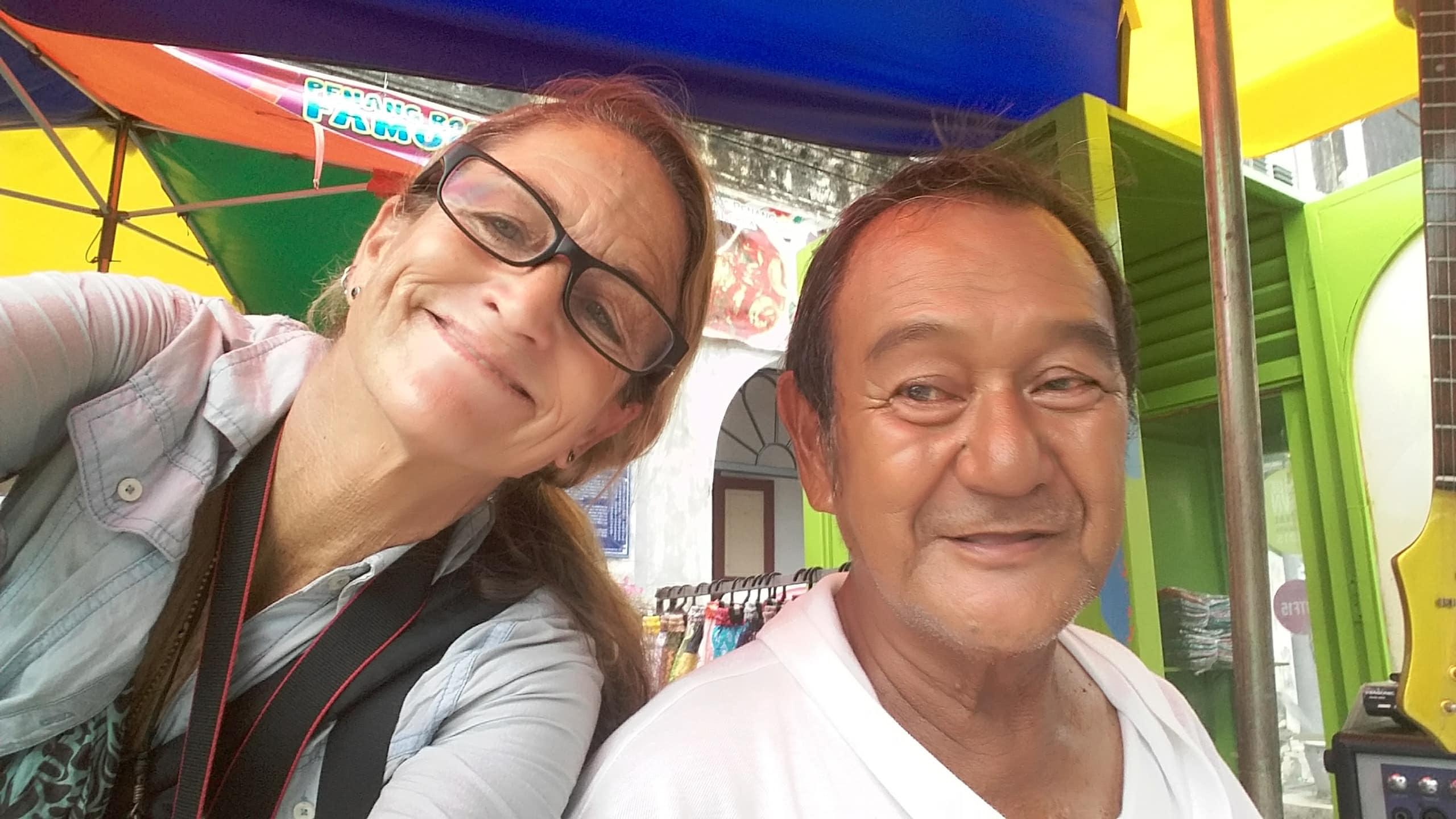 Vanessa in Penang.