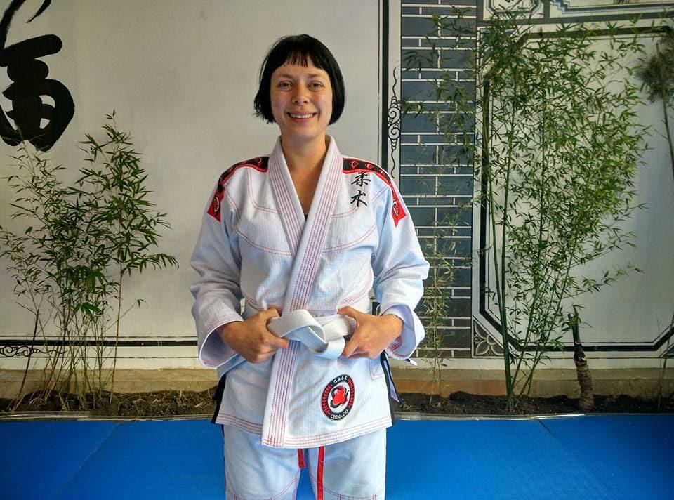 Teacake Travels doing Jiu jitsu