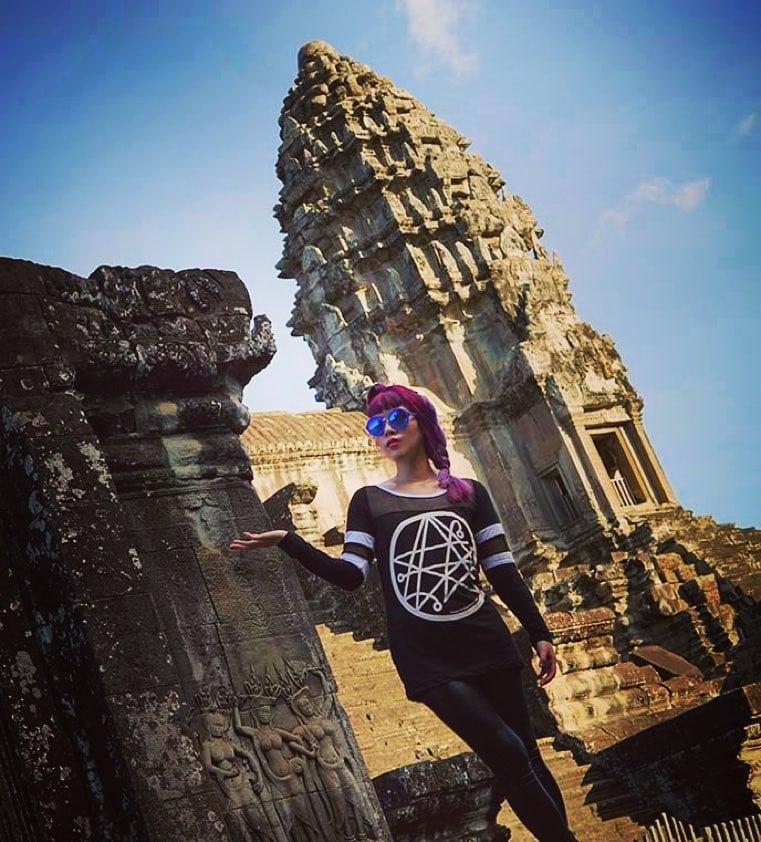 La Carmina in Angkor Wat.