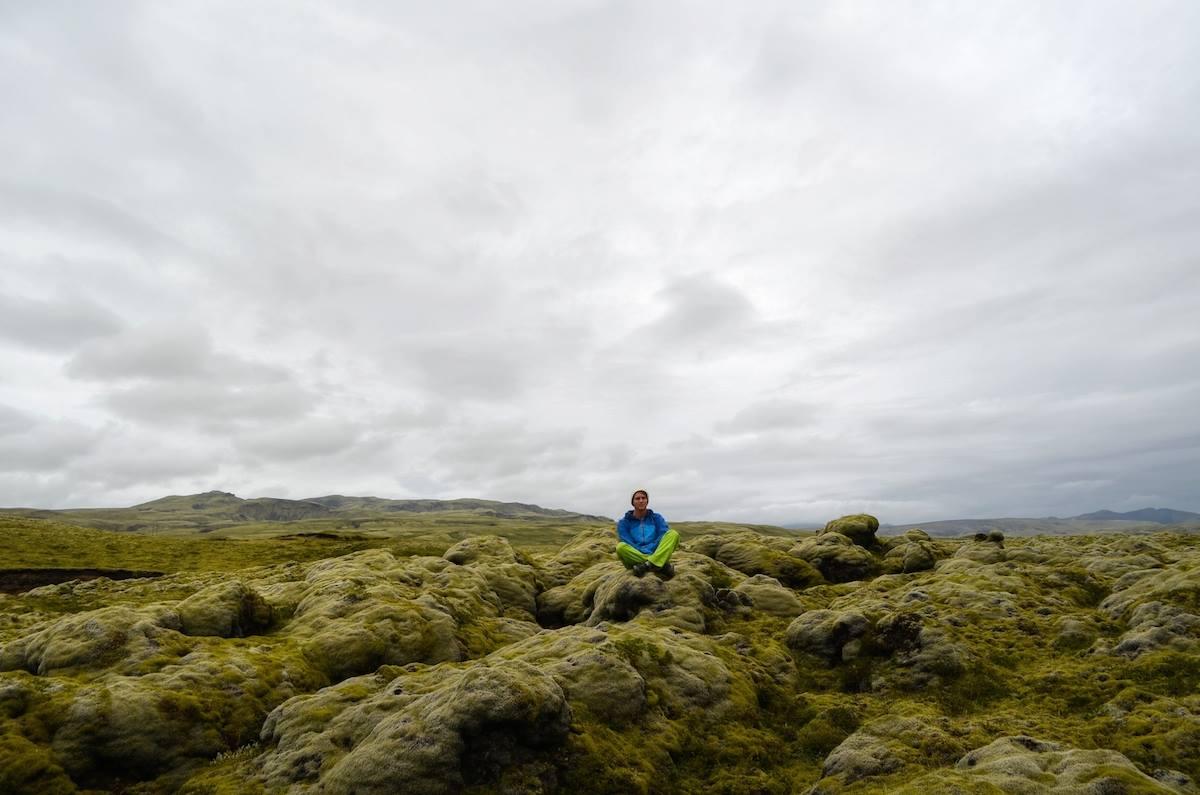 Jamie in Iceland.