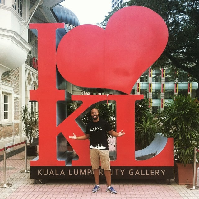 Erick visiting Kuala Lumpur.