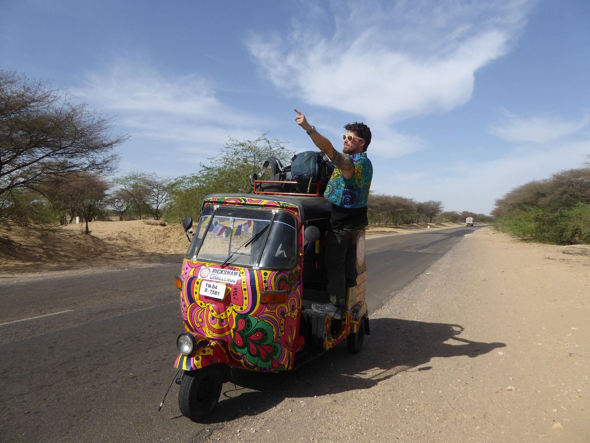 Tuk tuk around India by Will Hattton.