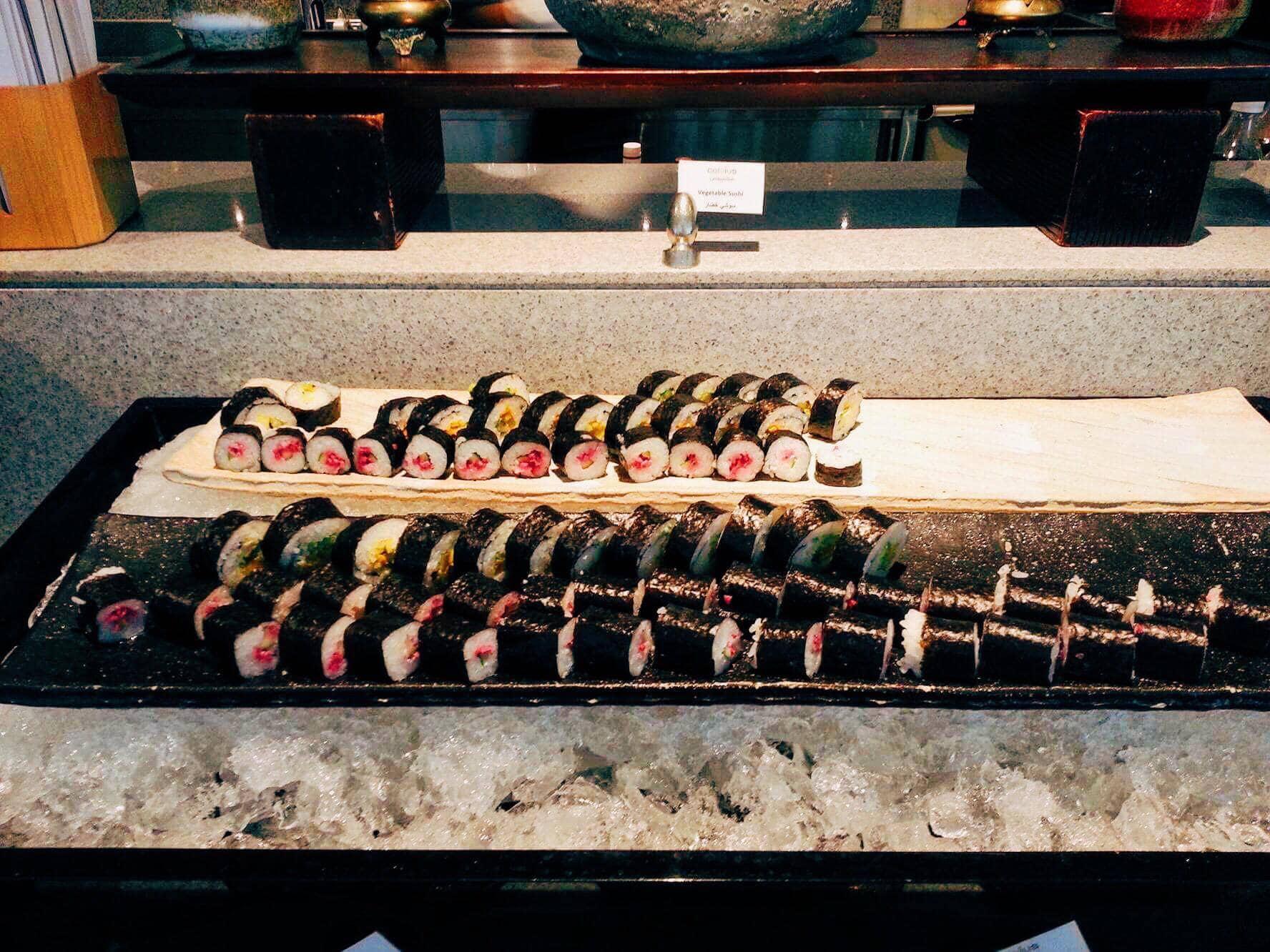 Sushi at Nassima Royal Hotel.