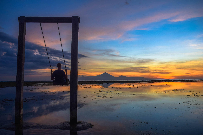 Sunset in Gilli Islands