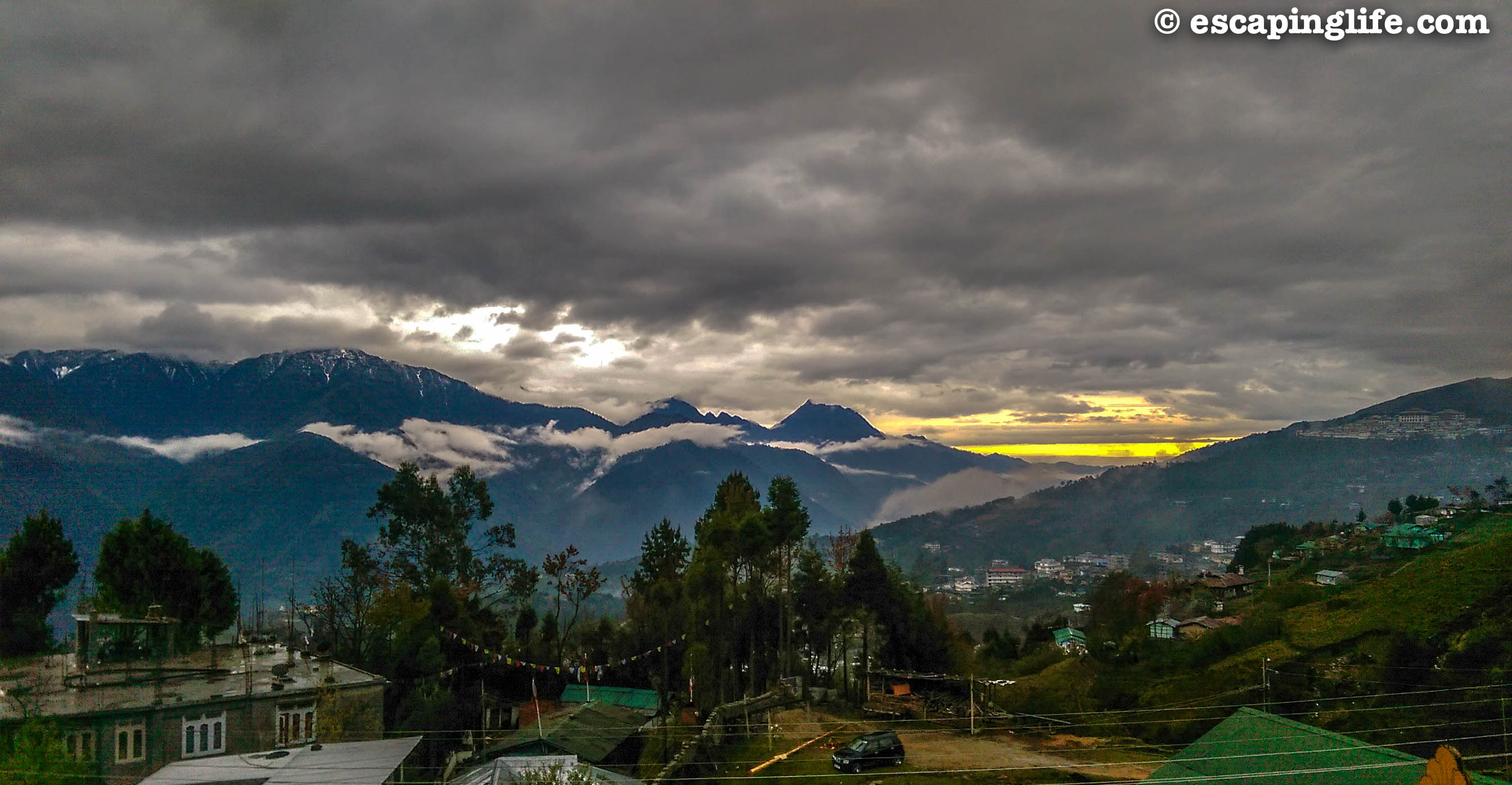 Sunset in Tawang