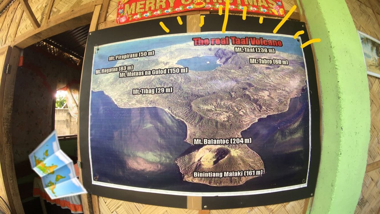 Map for hiking Taal Volcano