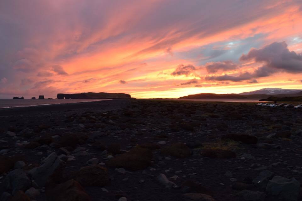 Sunset in Iceland.