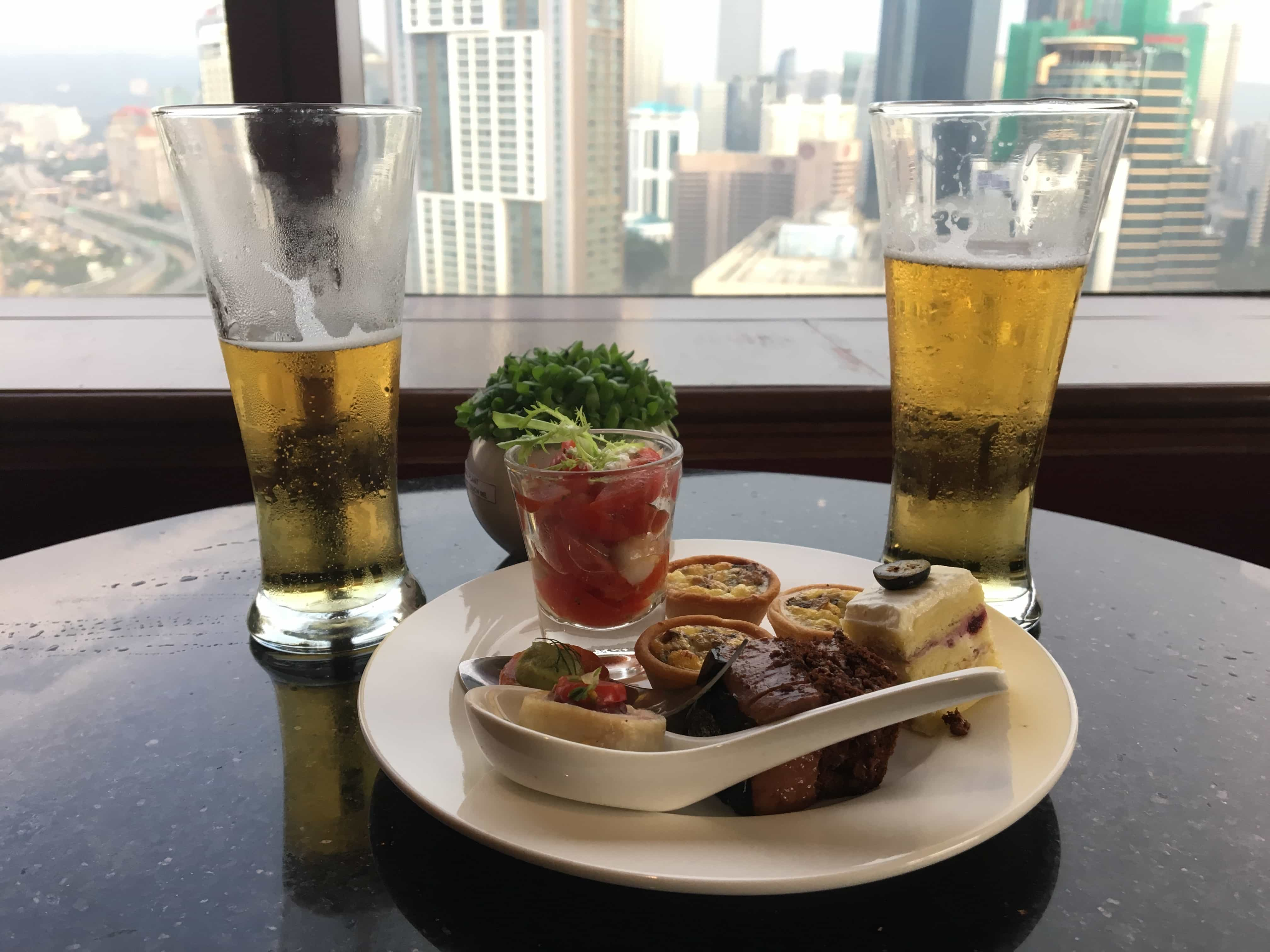 Beer with a view makes a perfect Kuala Lumpur experience
