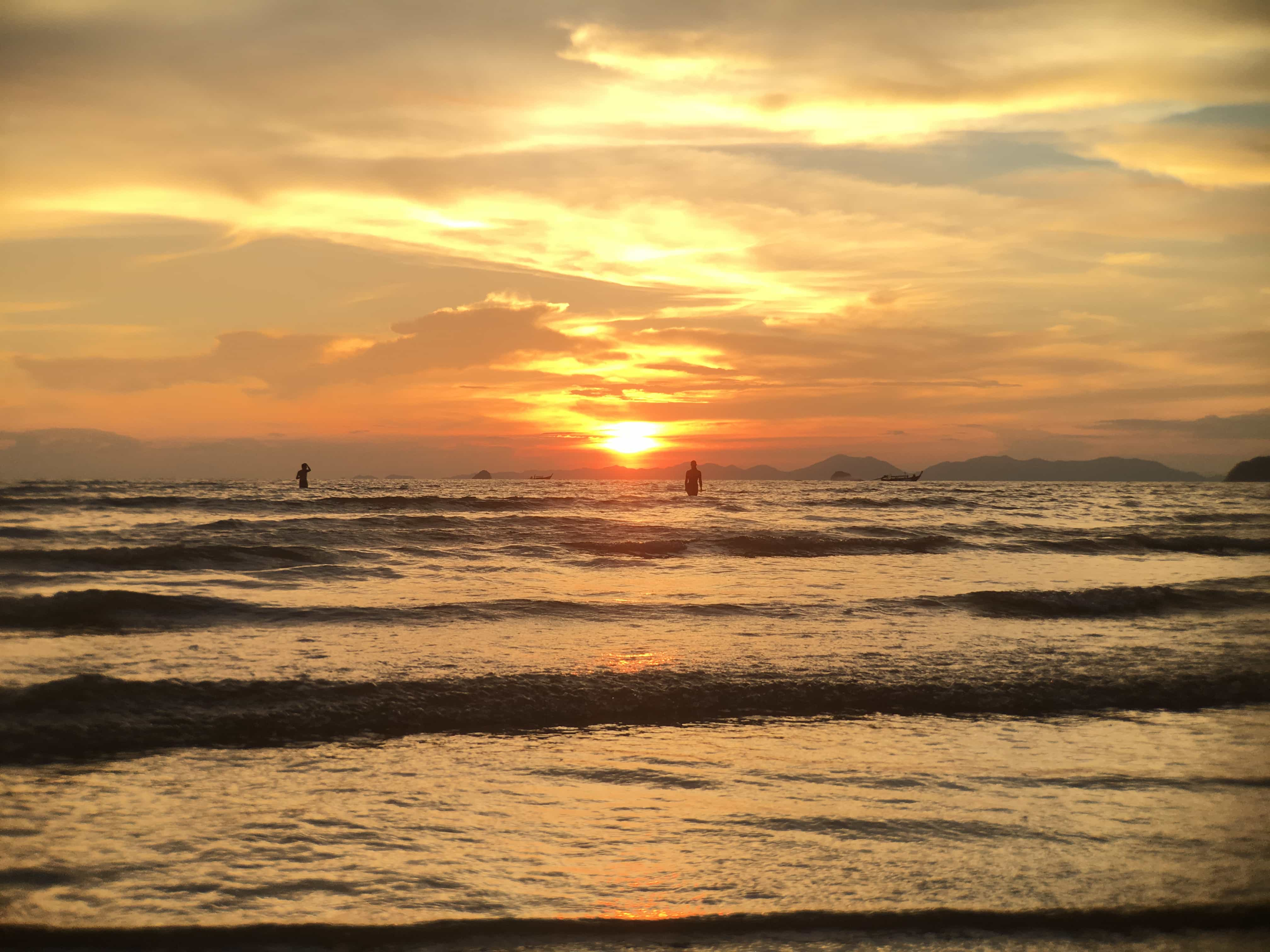 Thailand Beaches: Sunset Ao Nang Beach