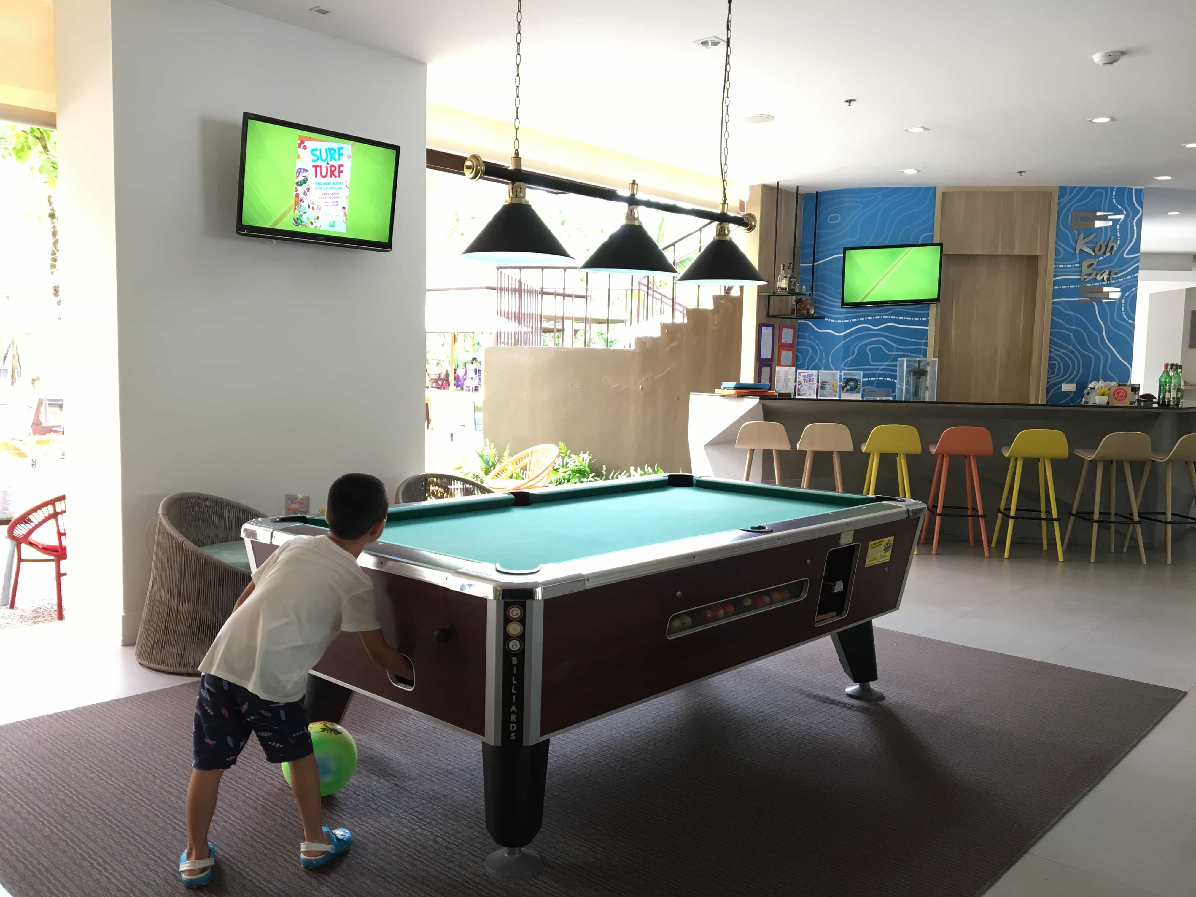 Relaxing playing pool at Thailand beaches