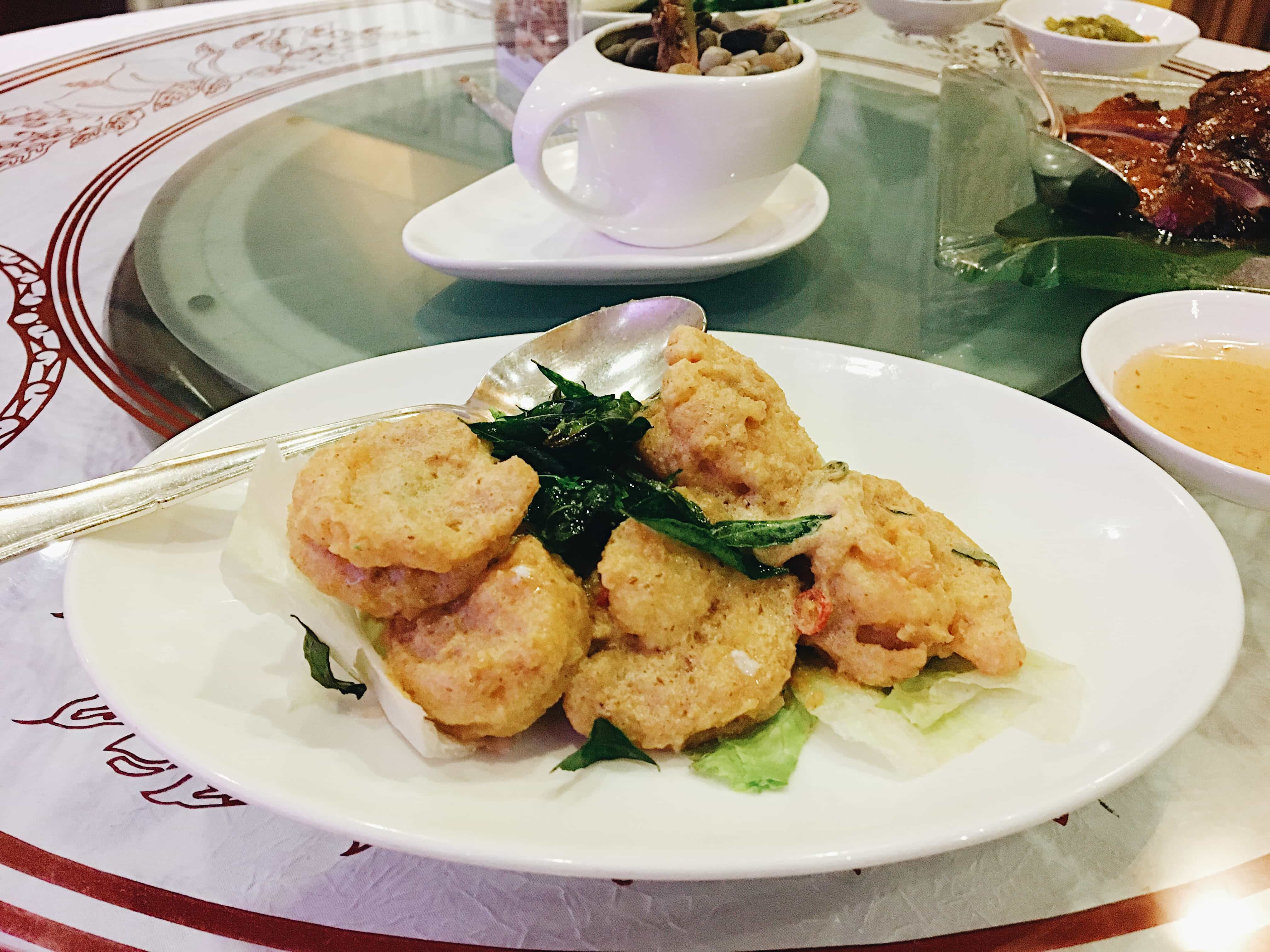Hong Kong Style Stir Fried Prawns in our Kuala Lumpur experience
