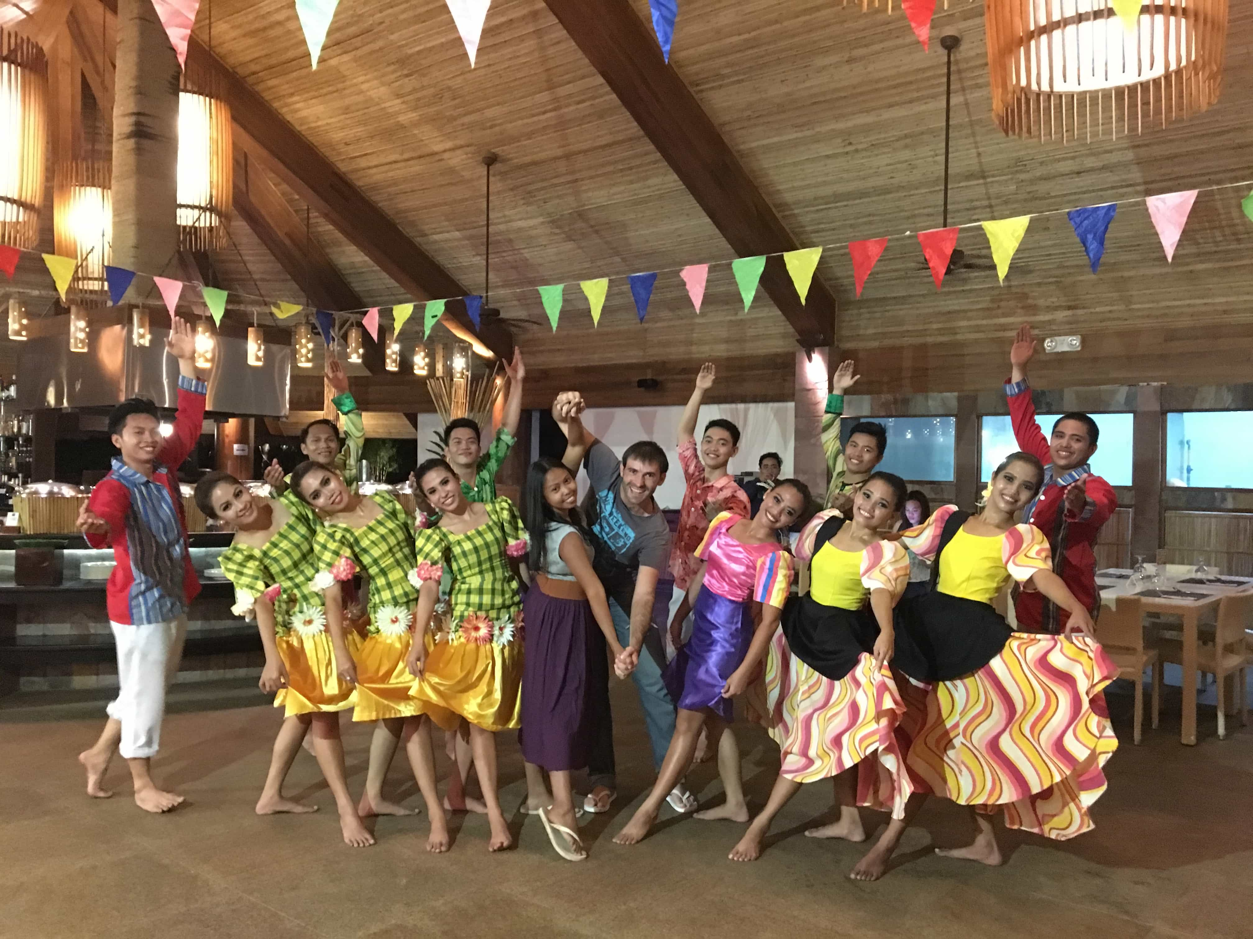 Dancing in a romantic vacation in Bohol