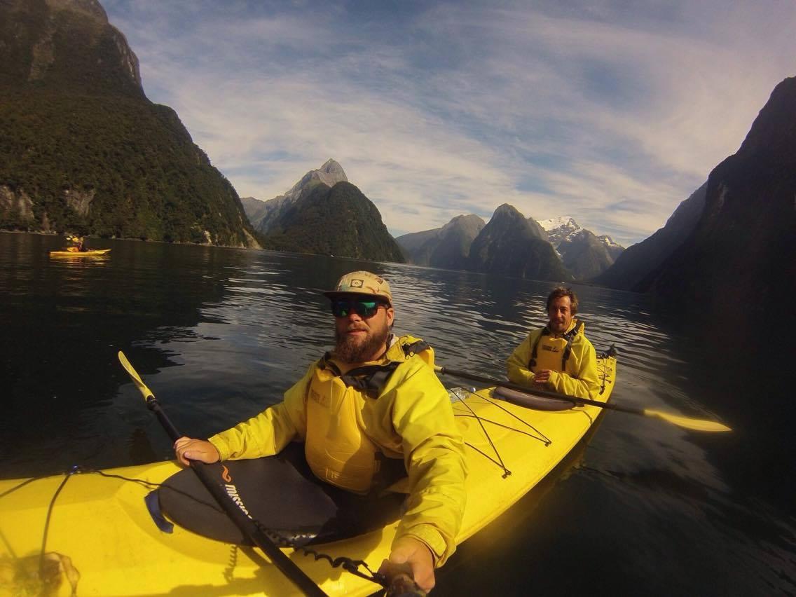 Kayaking at Milford Sound