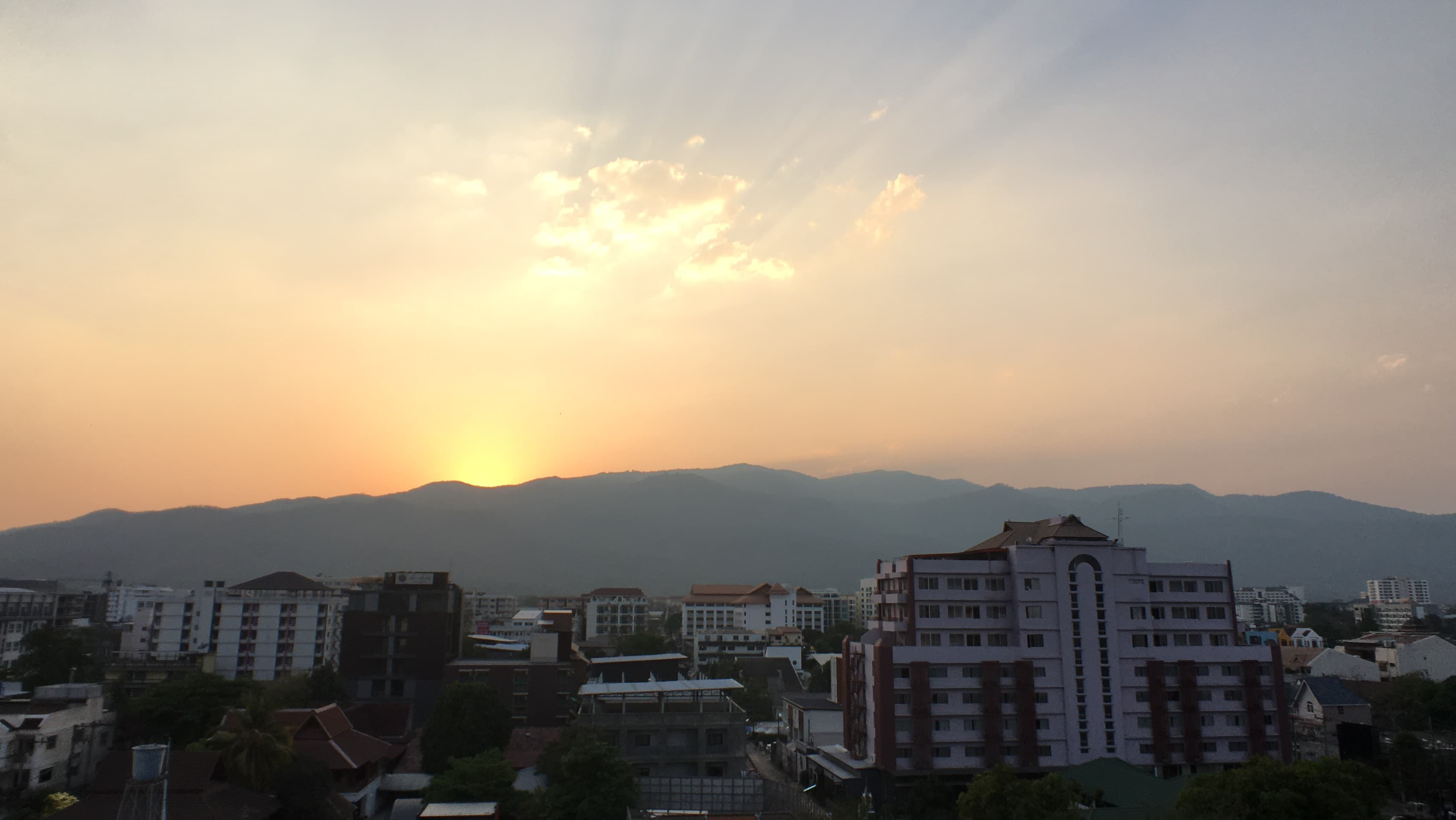 Sunset when visit Chiang Mai