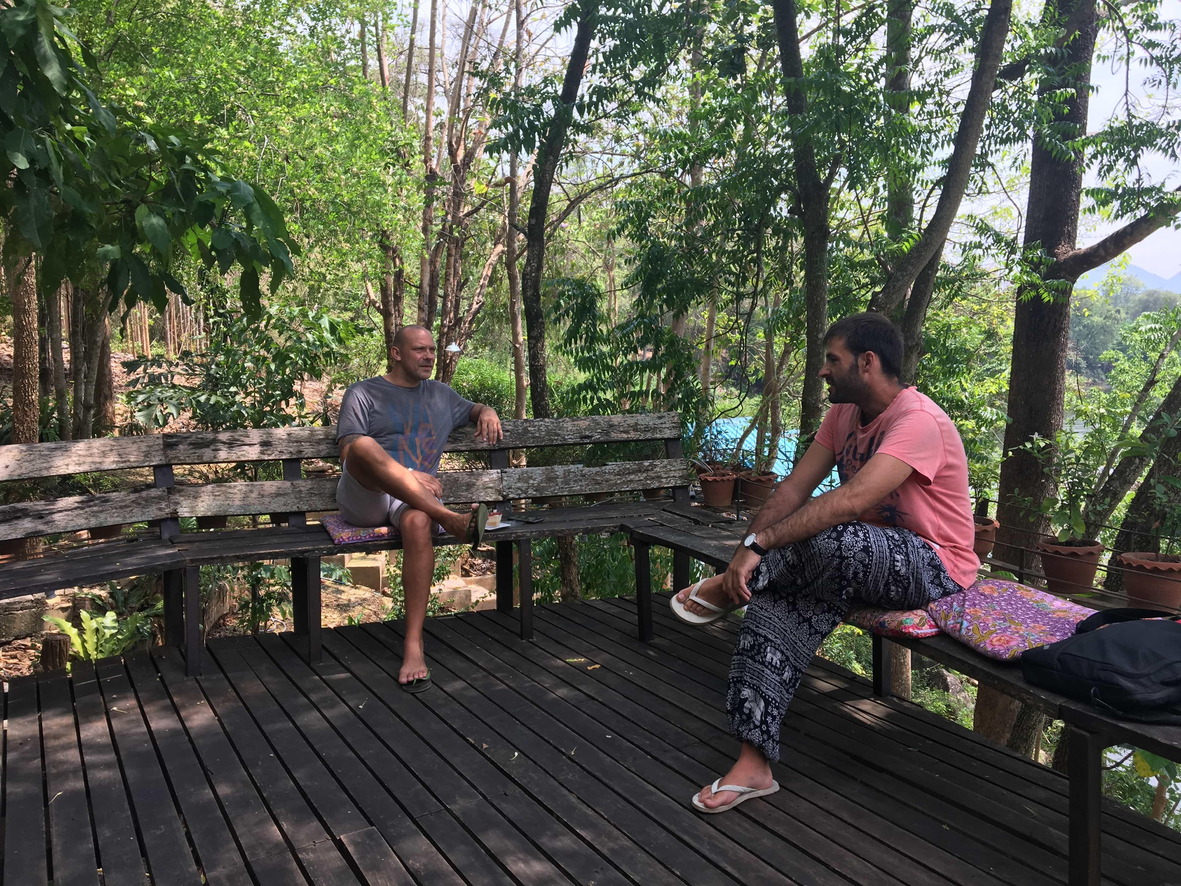 Meeting Steffen visiting Kanchanaburi