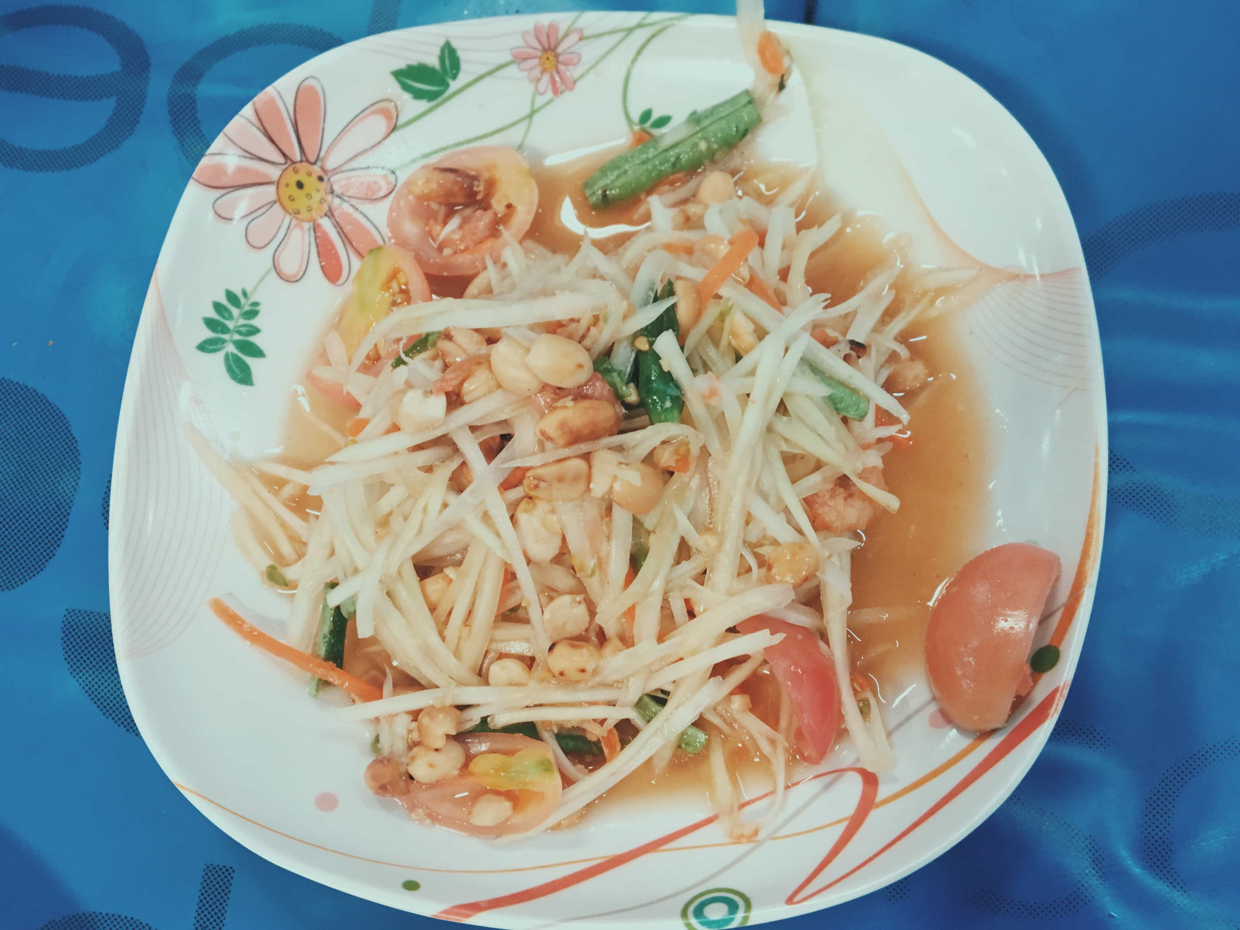 Thai food: Papaya salad