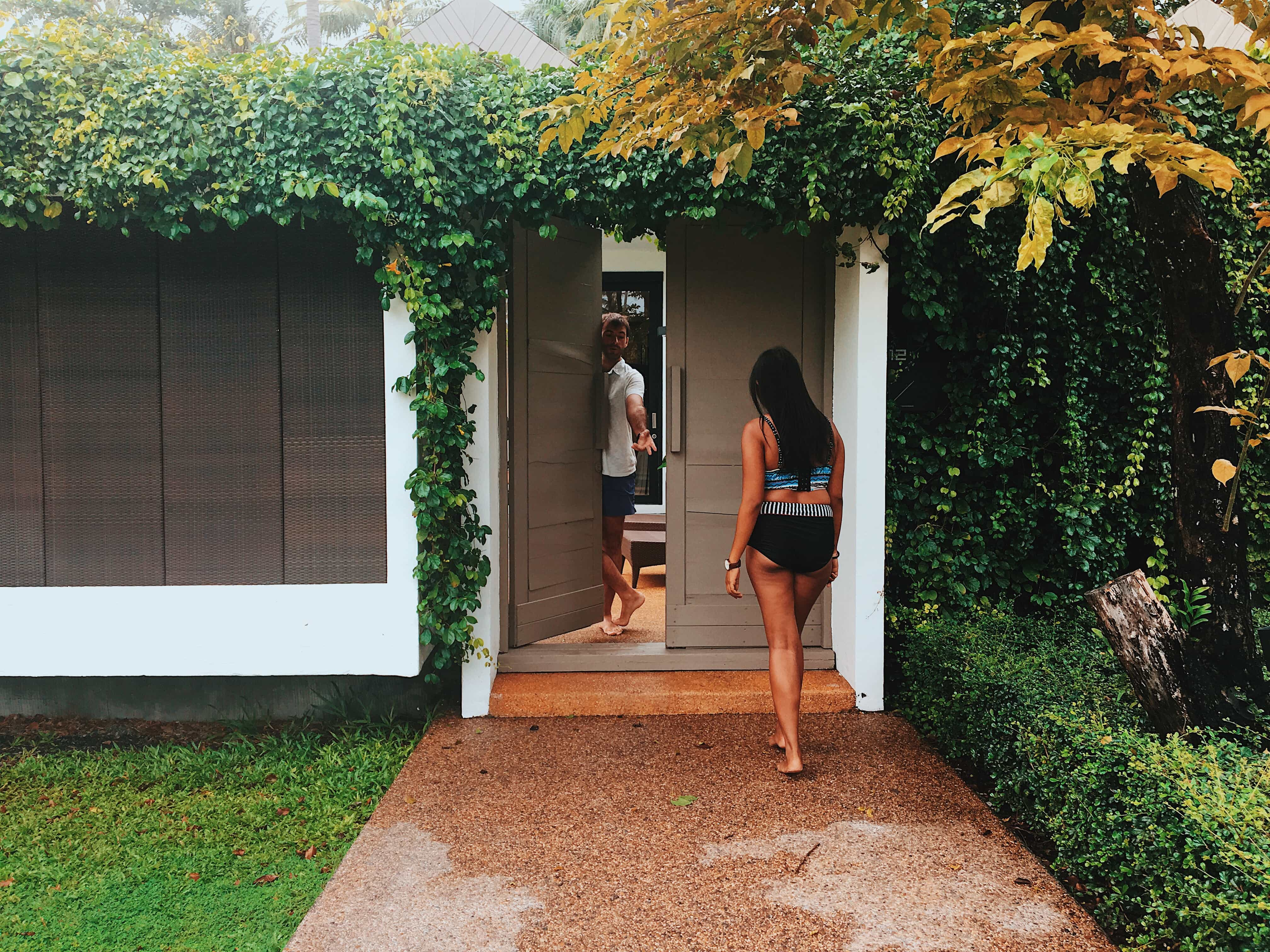 Entrance to the villa at X2 Koh Samui Resort