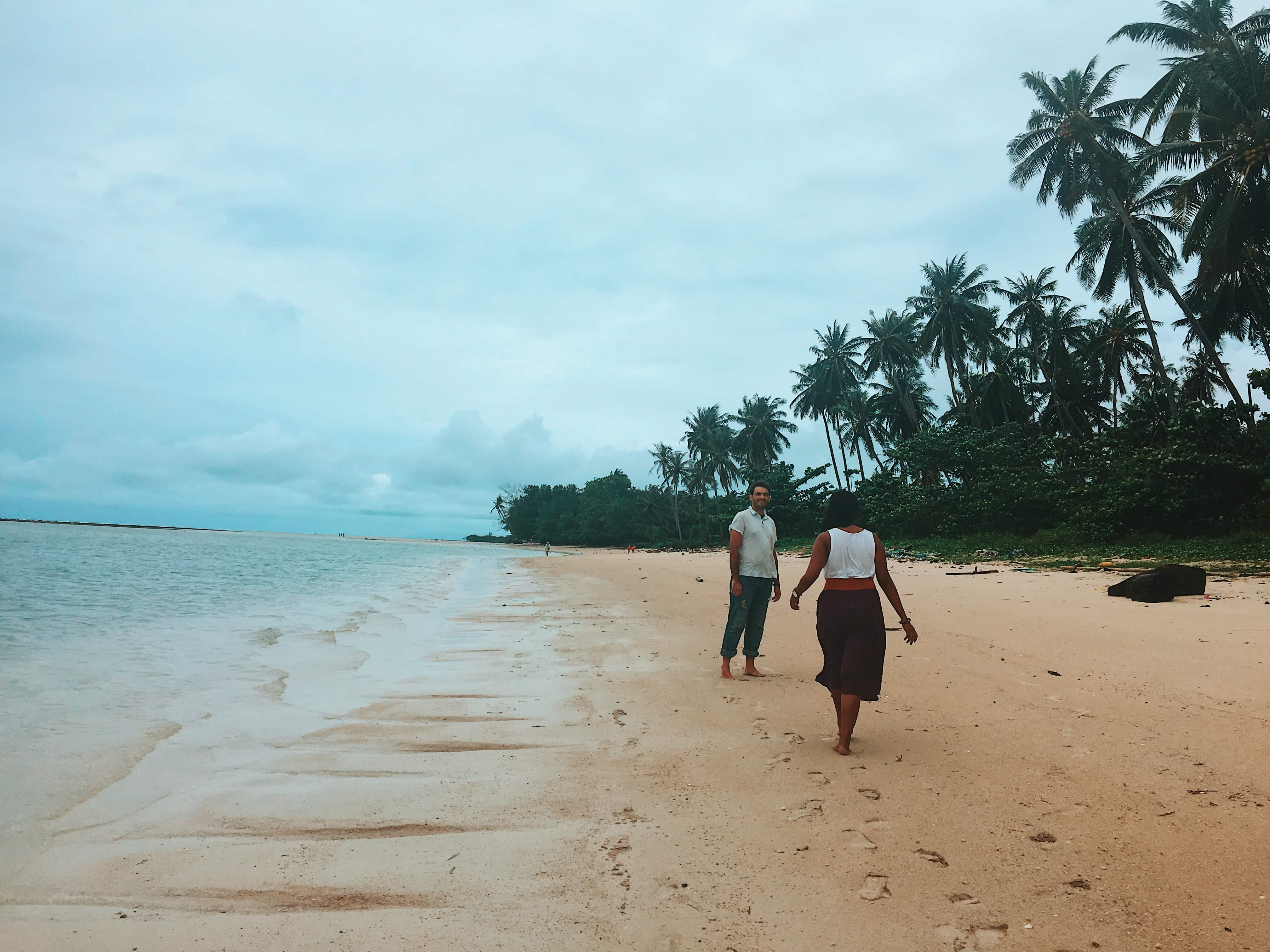 Walking around the beach at X2 Koh Samui Resort