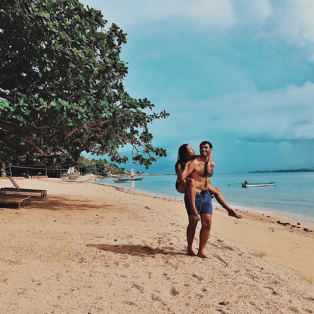 Walking around the beach when visit Koh Phangan
