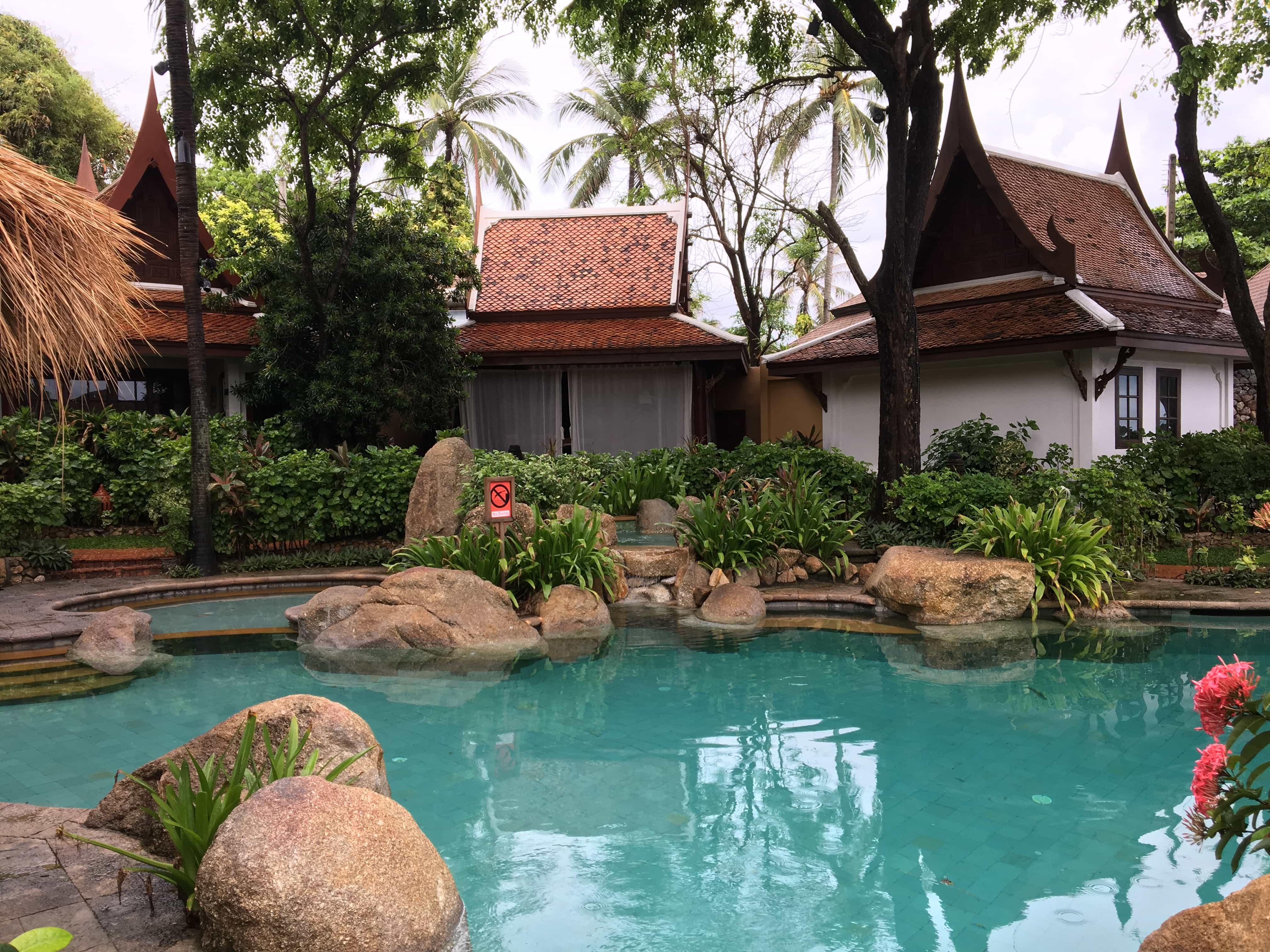 pool area at Poppies Samui