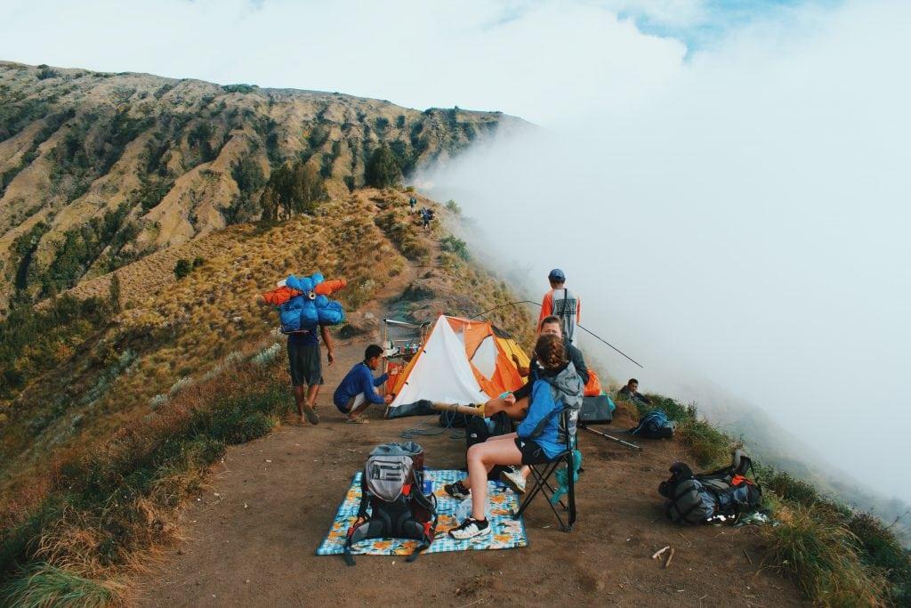 Comfort climbing Mount Rinjani