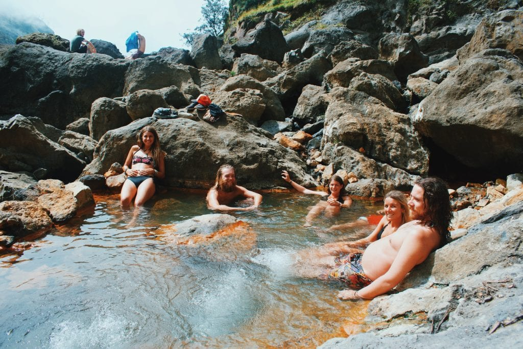 Hotsprings climbing Mount Rinjani