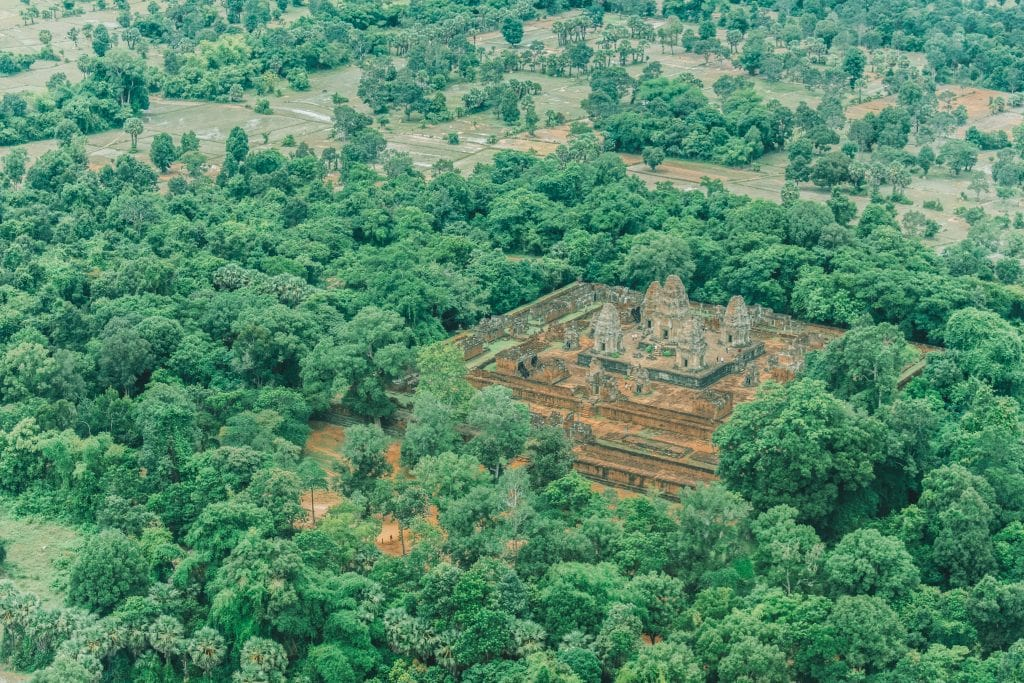 views in a helicopter scenic flight around Siem Reap